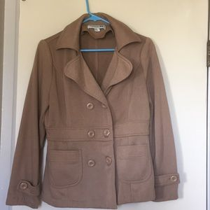 Light brown polyester pea coat